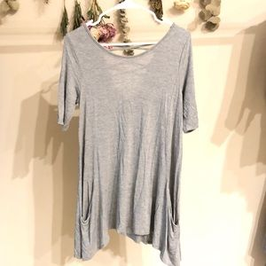 Gray Tunic with pockets! (4 FOR $30)